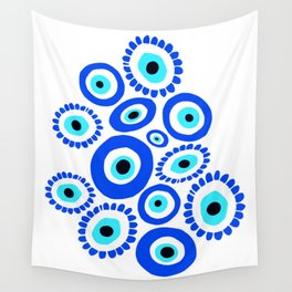 Evil Eye Mediterranean Lucky Symbol Wall Tapestry
