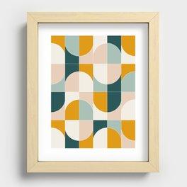 Bold Geo Tiles 01 Recessed Framed Print