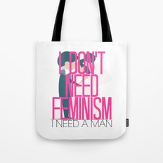 Feminism Brush-Off Tote Bag