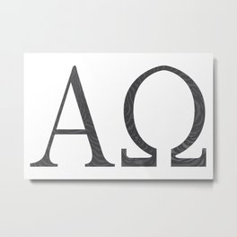 Alpha Omega Metal Print
