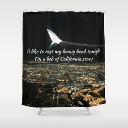 California Stars Shower Curtain