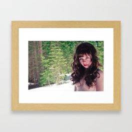 Bare In The Snow Framed Art Print