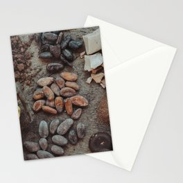 Cacao, beans, chocolate Stationery Cards