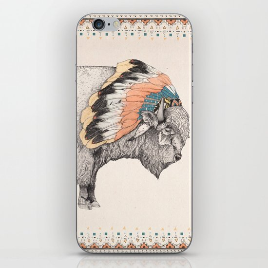 White Bison iPhone & iPod Skin