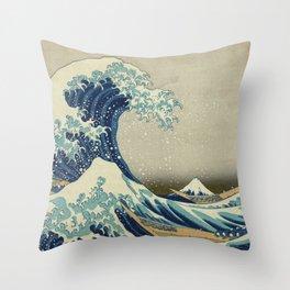 Ukiyo-e, Under the Wave off Kanagawa, Katsushika Hokusai Throw Pillow