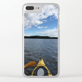 Into the Wild - Kayak Life Clear iPhone Case