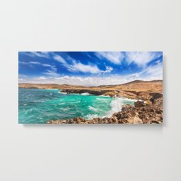 Choppy seas on Aruba's North Shore Metal Print