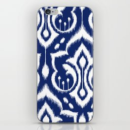 Ikat Damask Navy 2 iPhone Skin