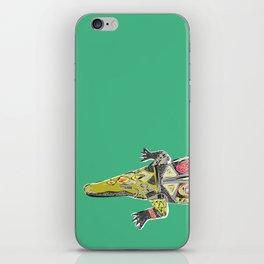crocodile green iPhone Skin