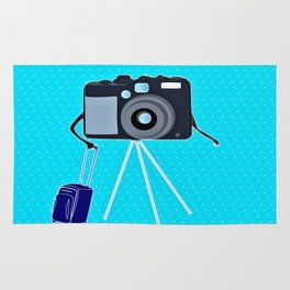 Camera on a photographic trip Rug