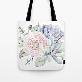 Succulent Blooms Tote Bag