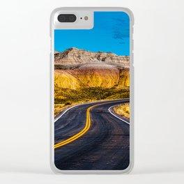 Badlands Highway Clear iPhone Case