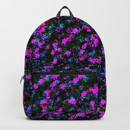 Colorful Fuchsia Purple Blue Spray Paint Backpack