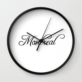 Montreal Wall Clock