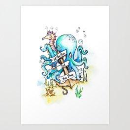 Under the Sea Children's Poster Art Print