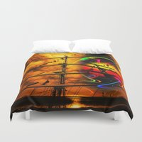 sail Duvet Covers featuring Under sail  by Walter Zettl