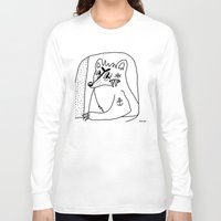 polar bear Long Sleeve T-shirts featuring POLAR BEAR. by Dave Bell