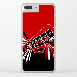 Dark Red Cheerleader Spirit Clear iPhone Case