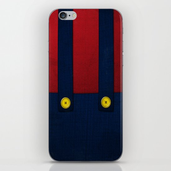 Video Game Poster: Plumber iPhone & iPod Skin