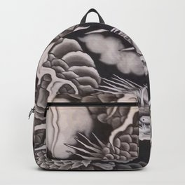 Cool traditional Japanese Dragon Texture Backpack