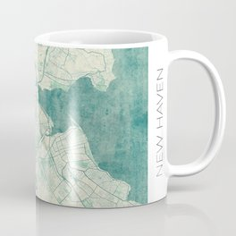 New Haven Map Blue Vintage Coffee Mug