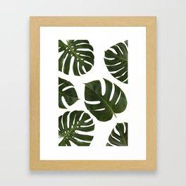 Tropical Plant Leaves Framed Art Print