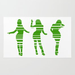 Spring is coming: Green dancing party girls Rug