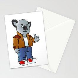 funny koala cartoon Stationery Cards