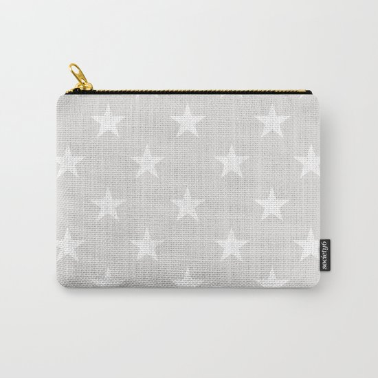 Stars (White/Platinum) Carry-All Pouch