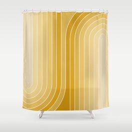 Gradient Curvature VII Shower Curtain