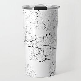 gray wall crack split marks - best art for your house or home Travel Mug