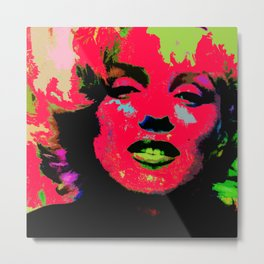 Marilyn Tears Metal Print