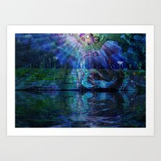 Beneath true light the magic shows and sighs quite softly as it grows Art Print