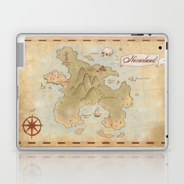 Map of Neverland Laptop & iPad Skin