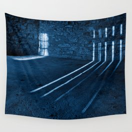 Gloomy Lockhouse Basement Wall Tapestry