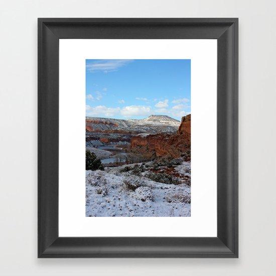 First Snow Framed Art Print