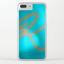 Metallic K Clear iPhone Case