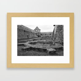 Fortress monastery courtyard and watchtower Framed Art Print