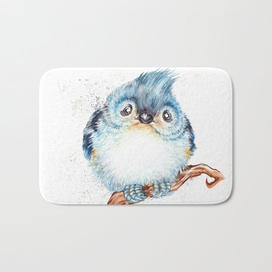 Baby titmouse Bath Mat