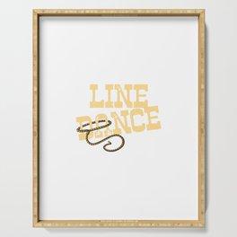 Line Dance Design Serving Tray