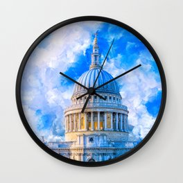 London - The Dome Of St Paul's Cathedral Wall Clock
