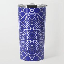 Playing Card Back - Blue Travel Mug