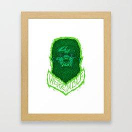 Bloody Werewolf Framed Art Print