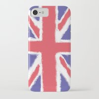 union jack iPhone & iPod Cases featuring Union Jack by Holly Louise