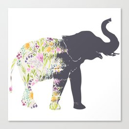 Spring Elephant Canvas Print