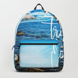 Eat well, travel lots Backpack