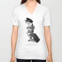pilot V-neck T-shirts featuring The Pilot (colour option) by Eric Fan