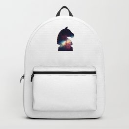 Chess Player Horse Knight Abstract Galaxy Pattern Backpack