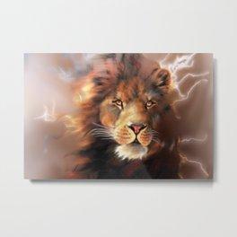 Lion Chocolate Metal Print
