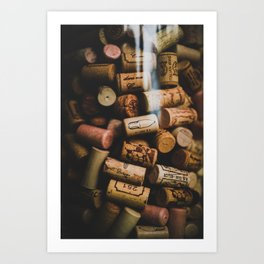 A collection of Wine Corks Photo Art Print